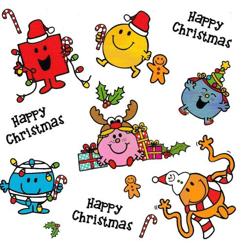 Mr Men And Little Miss Mini Christmas Card - Group - NEW