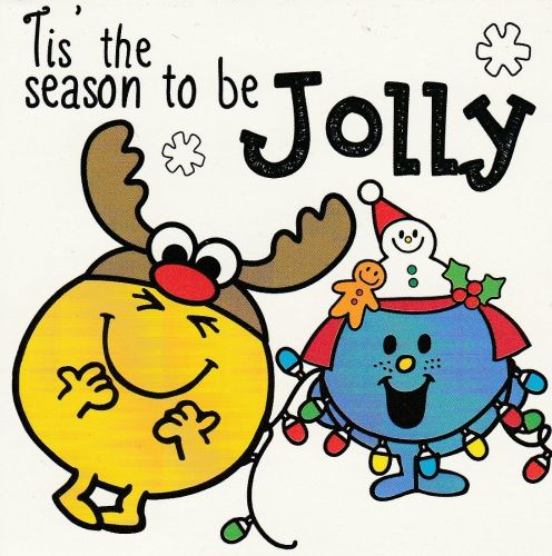 Mr Men And Little Miss Mini Christmas Card - Happy And Giggles - NEW