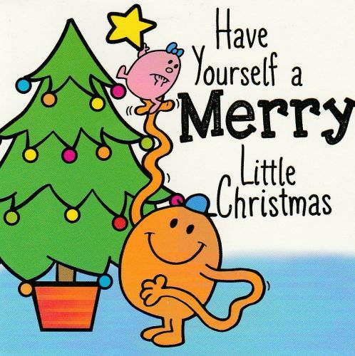 Mr Men And Little Miss Mini Christmas Card - Small And Tickle - NEW
