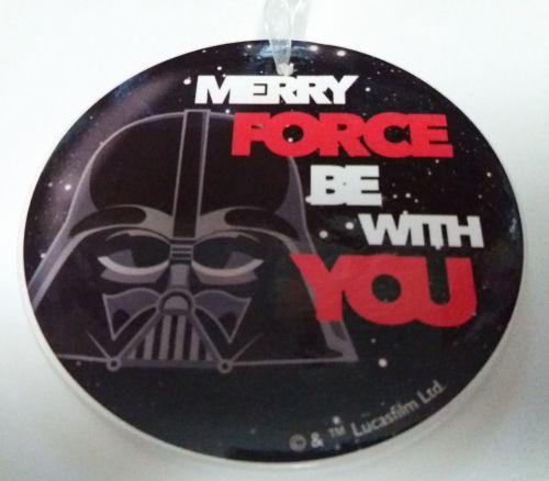 Star Wars - Ceramic Christmas Decoration - Darth Vader - Disney - NEW