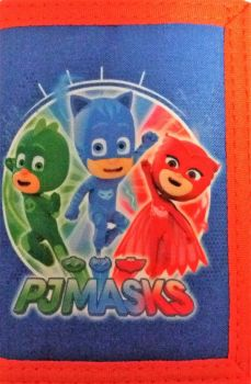 PJ Masks - Tri-Fold Wallet With Zipped Coin Compartment - 2017 - NEW