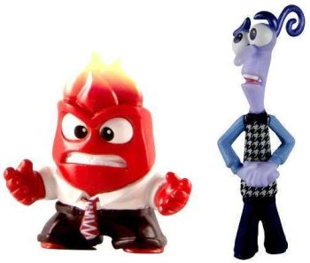 Inside Out Figures - Fear And Anger - 2 Pack - Pixar - NEW