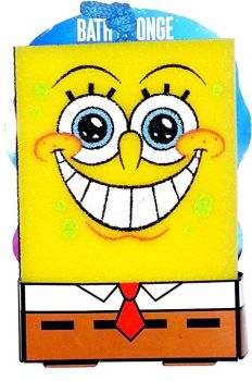 SpongeBob SquarePants - Bath Sponge - Smiley Design - 2013 - NEW