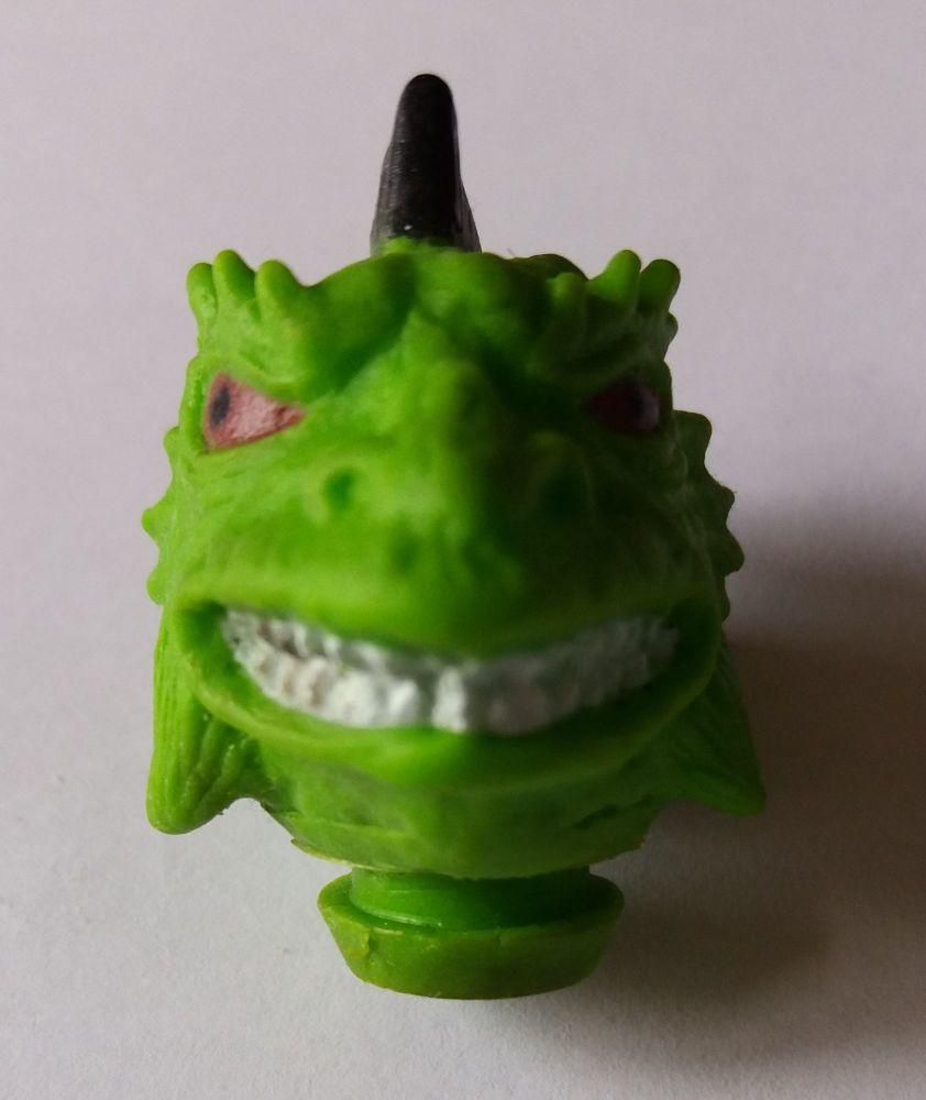 Action Figure Head - Green Alien / Reptile