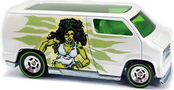The Savage She-Hulk - Marvel Custom '77 Dodge Van - Hot Wheels - 2016 - NEW