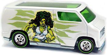 The Savage She-Hulk - Marvel Custom '77 Dodge Van - Hot Wheels - 2016 - NEW