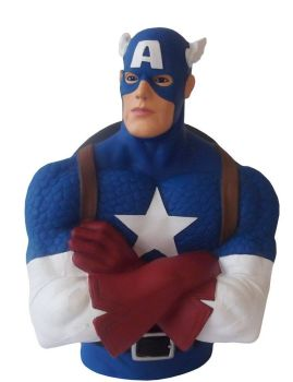 Captain America Bust Money Box - Marvel - NEW