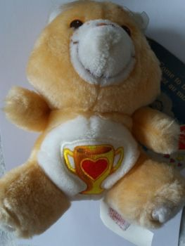 Care Bears - Champ Bear Plush Soft Toy With Tag - 1984