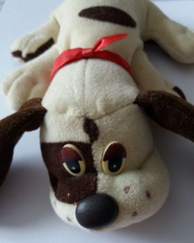 Pound Puppies - Brown & Cream Puppy Plush Soft Toy - 1984