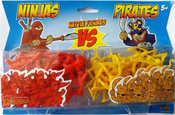 Ninjas Vs Pirates Battle Figures - 2014 - NEW