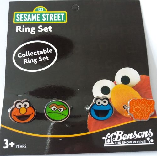 Sesame Street - Collectable Ring Set - NEW