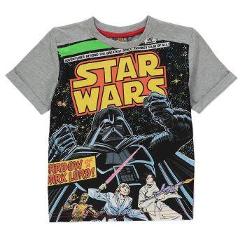 Star Wars - Short Sleeve T-Shirt - Retro Comic Book Design - 5-6 YRS - NEW