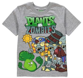 Plants Vs Zombies - Short Sleeve T-Shirt - Popcap - 7-8 YRS - 2014 - NEW