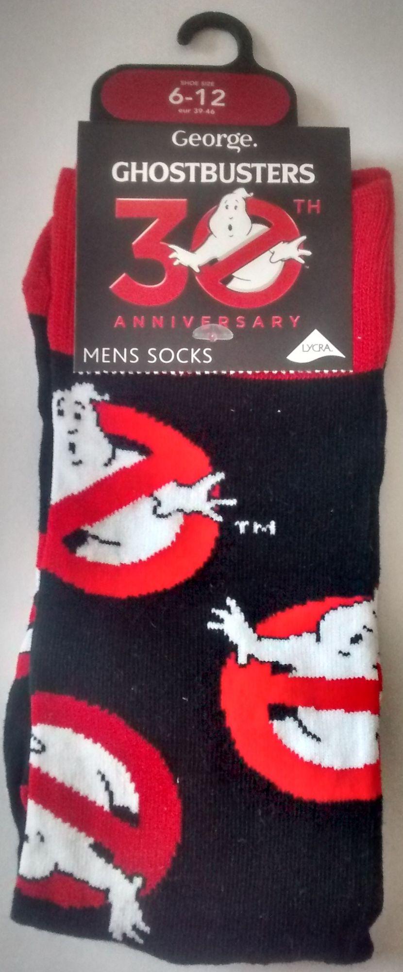 Ghostbusters Socks - Logo - Black - Mens UK 6-12