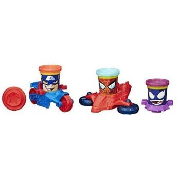 Play-Doh - Marvel Can Heads - Captain America, Spider-Man And Venom - NEW - 2014