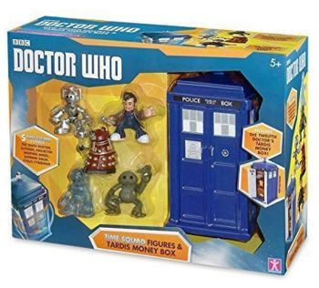 Doctor Who - Time Squad Figures & Tardis Money Box - 2015 - NEW
