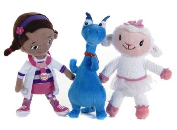 Doc McStuffins - Soft Plush Toy Set - Doc, Lambie & Stuffy 3 Pack - Disney - NEW