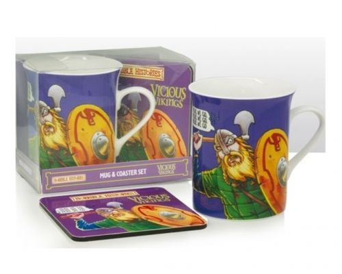 Horrible Histories - Cup / Mug & Coaster Set - Vicious Vikings - NEW