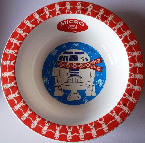 Star Wars - Christmas Bowl - R2D2 & Stormtroopers - NEW