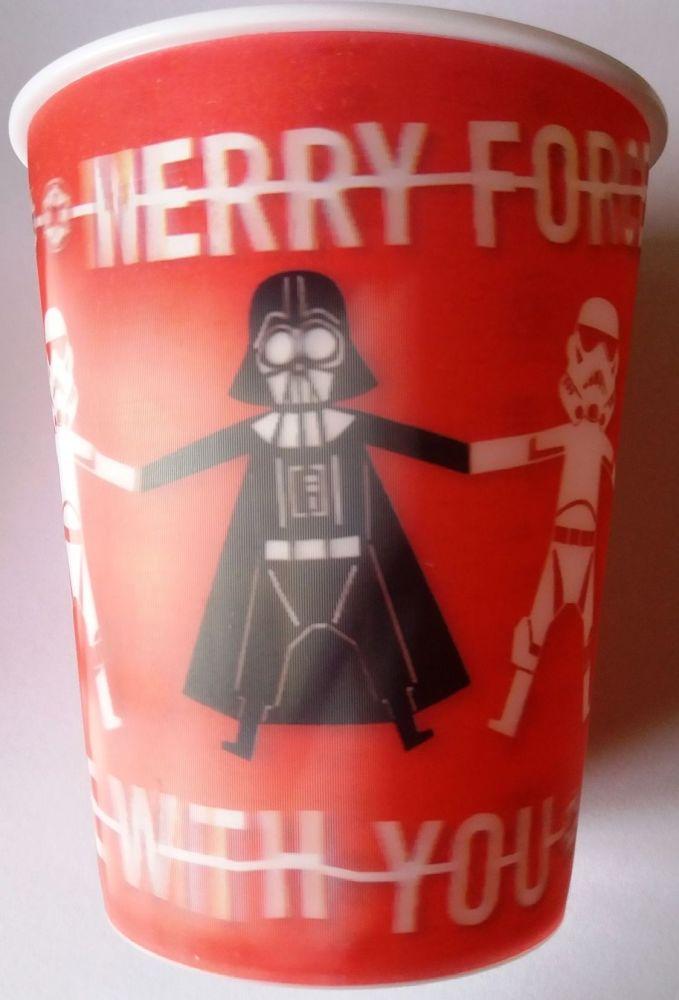 Star Wars - Christmas Lenticular Tumbler / Beaker - Darth Vader & Stormtroo