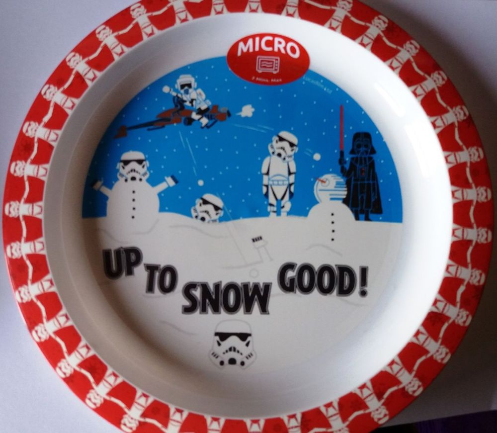 Star Wars - Christmas Plate - Darth Vader & Stormtroopers - NEW