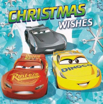 Cars 3 Christmas Card - Jackson Storm, Lightning McQueen & Cruz Ramirez - NEW