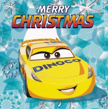 Cars 3 Christmas Card - Cruz Ramirez - Dinoco - NEW