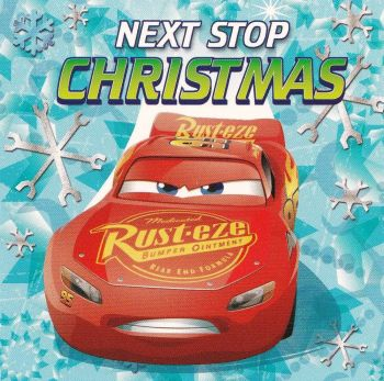 Cars 3 Christmas Card - Lightning McQueen - Rust-eze -  NEW