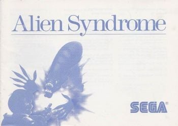 Alien Syndrome - SEGA Master System - Manual Only
