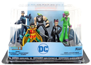 DC HeroWorld Vinyl Collection - Series 8 - 5 Figure Pack  - Funko - NEW