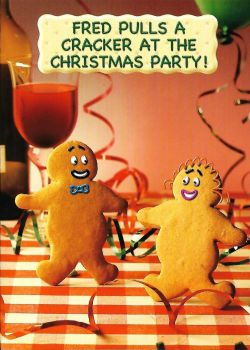 Fred And Ginger Christmas Card - Cracker - NEW