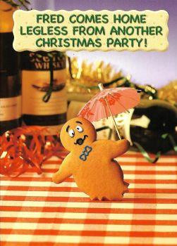 Fred And Ginger Christmas Card - Legless - NEW
