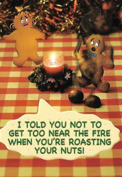 Fred And Ginger Christmas Card - Nuts - NEW