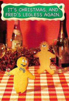 Fred And Ginger Christmas Card - Legless Again - NEW