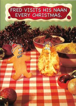 Fred And Ginger Christmas Card - Naan - NEW
