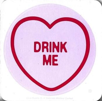 Swizzels Matlow - Love Hearts Coaster - Drink Me - NEW