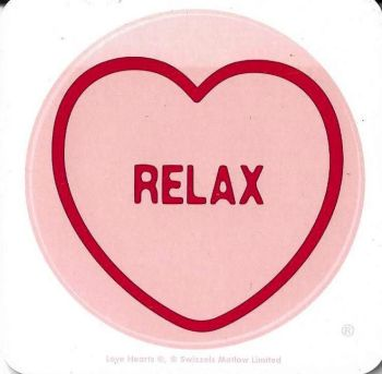 Swizzels Matlow - Love Hearts Coaster - Relax - NEW