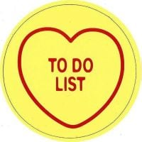 Swizzels Matlow - Love Hearts Large Magnet - To Do List - NEW