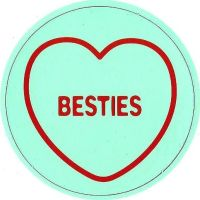 Swizzels Matlow - Love Hearts Large Magnet - Besties - NEW