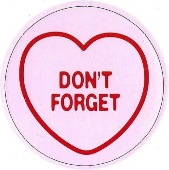 Swizzels Matlow - Love Hearts Large Magnet - Don't Forget - NEW