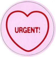 Swizzels Matlow - Love Hearts Large Magnet - Urgent - NEW