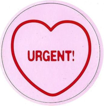 Swizzels Matlow - Love Hearts Large Magnet - Urgent - NEW