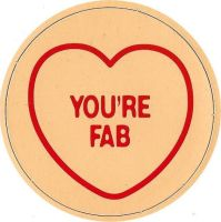 Swizzels Matlow - Love Hearts Large Magnet - You're Fab - NEW