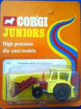 Corgi Juniors Tractor With Angledozer - NEW