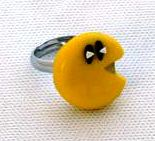 Pac Man Ring (Hand-made) - NEW