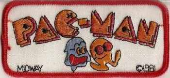 Pac Man Sew-on Patch - NEW