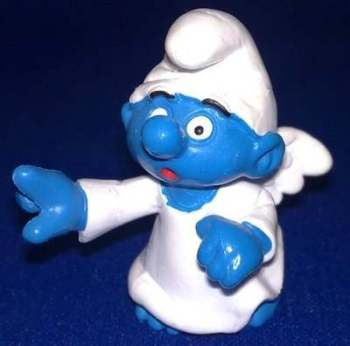 Angel Smurf Figure - 1984