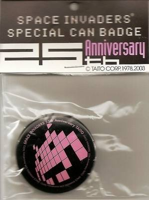 Space Invaders 25th Anniversary Badge - RARE - NEW