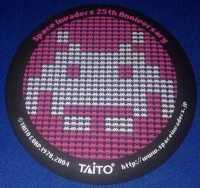 Space Invaders 25th Anniversary Coaster - RARE - NEW