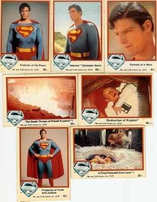 Superman : The Movie Trading Cards - Set Of 7